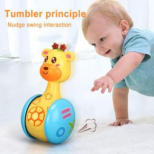 Tumbler inteligente con forma de Animal para niños, juguete interactivo para cantar