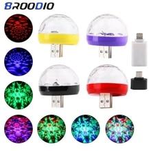 USB Mini Disco Lights Sound Party Lights Disco Ball Lamp Led Stage Lights Spotlights For Stage DJ LED Light Lighting Karaoke