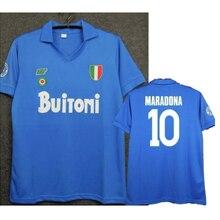 Футбольная форма Maglie nanoli 1987/1988, винтажная Футбольная форма MARADONA 1987 1988