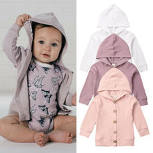 Outwear Cardigan Hooded-Jacket Knitted Baby-Girl Sweaters Kids Autumn Infant Tops Long-Sleeve
