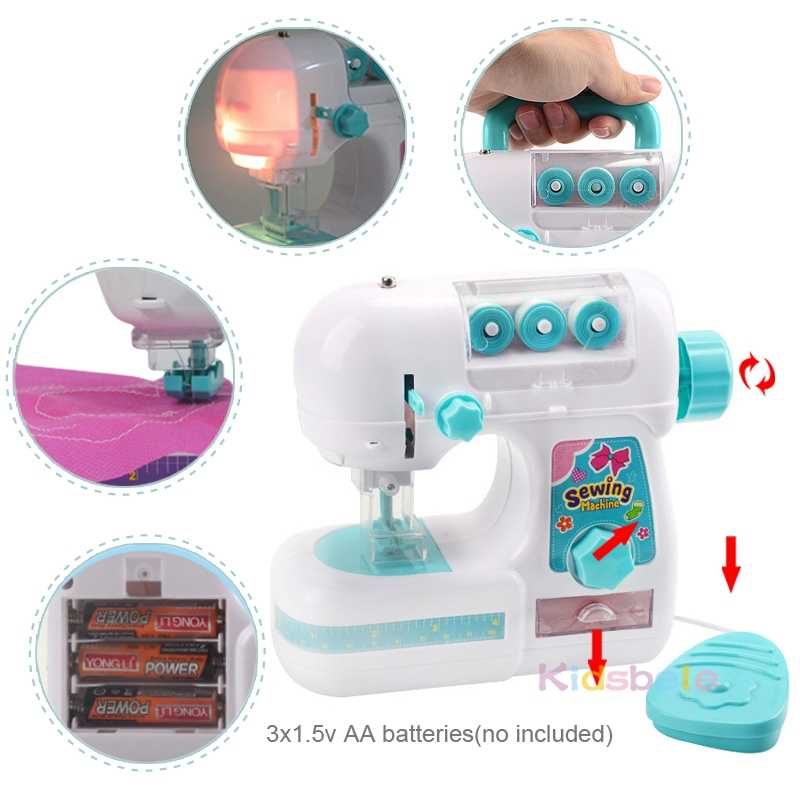 Mini Furniture Pretend Toy Role Play Game Sewing Machine Toy Kids Girl Toys
