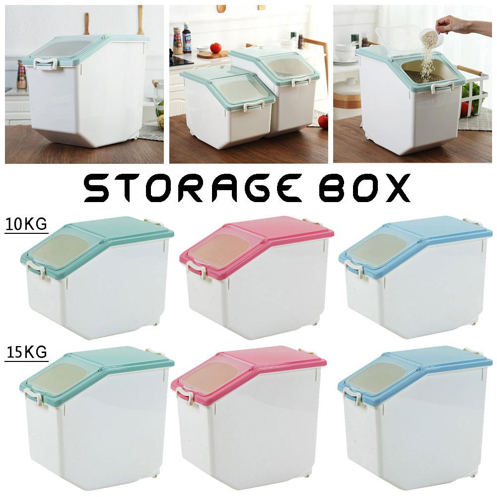 Plastic Sealed Moisture-proof Storage Box Kitchen Grain Rice Container