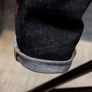 Image 4 - Grandi jeans di formato degli uomini di colore uomo più il formato dei pantaloni harem di autunno elastico stretch Slim pantaloni piedi 7XL 6XL 5XL