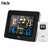 FanJu FJ3365 Color Weather Station Indoor/Outdoor Wireless Temperature Humidity Barometer Thermometer Hygrometer Weather Station