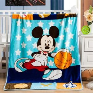 Image 2 - Manta de Minnie Mouse de Disney para bebé, manta de franela, manta cálida de felpa, funda de edredón, regalo para bebé, 100x140cm