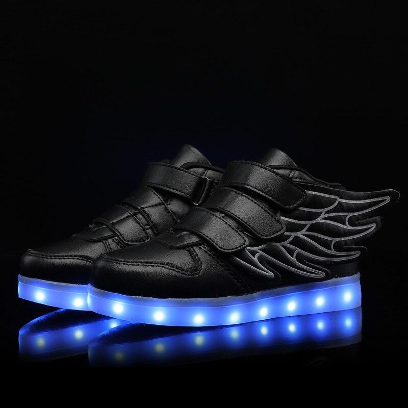 Детские светящиеся кроссовки, детская обувь со светодиодной подсветкой для мальчиков и девочек, обувь для тенниса с подсветкой и USB-зарядко...