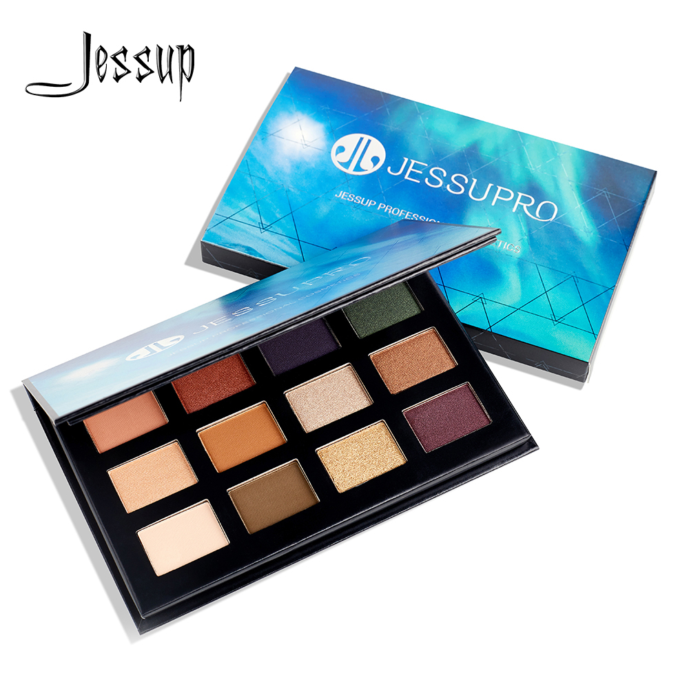 Jessup 12 colors Makeup Eyeshadow Palette Brighten Glitter Natural Shimmer Pigment Eye Shadow Palettes branded|Eye Shadow| - AliExpress