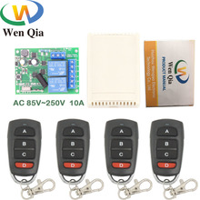 433MHz Wireless Universal Remote Control AC 220V 10A 2CH rf Relay Receiver and Transmitter for remote light/ Bulb/ Motor switch стоимость
