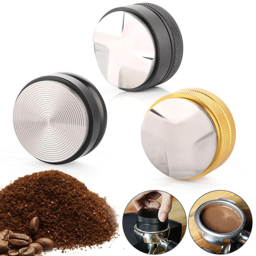 58Mm Rvs Koffie Poeder Druk Sabotage Distributeur Leveler Tool Base Koffie Druk Poeder Hamer