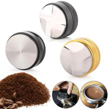 58mm Stainless Steel Coffee powder press Tamper Distributor Leveler Tool  Base Coffee Press Coffee Powder Hammer недорого