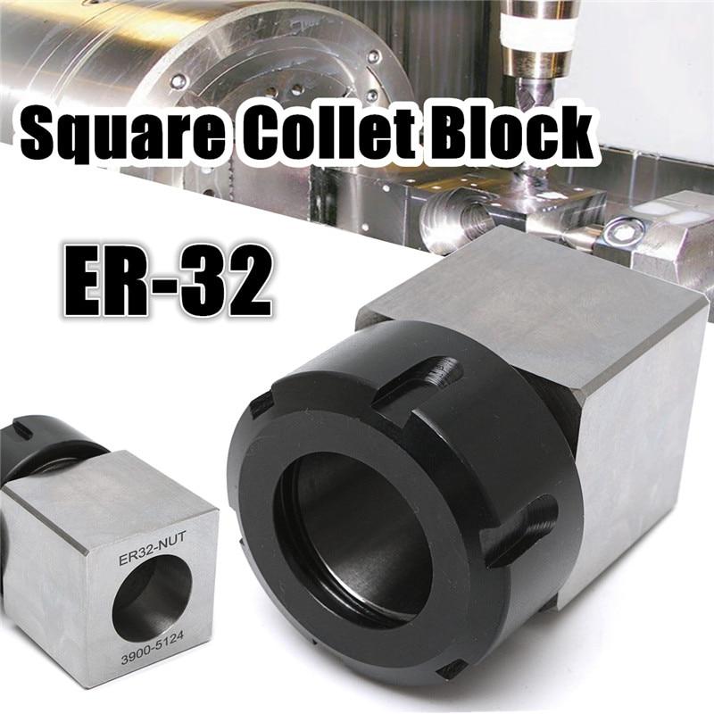 ER-25 Square Collet Block Spring Chuck Collet Holder for Lathe Engraving Machine