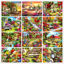 SHAYI DIY 5D Diamond Painting Dream Garden Landscape Mosaic Embroidery Cross Stitch Full Square/Round Drill Scenery Home Decor
