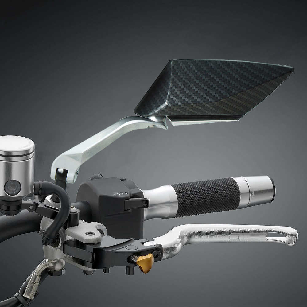 Sepeda Motor Karbon Kaca Spion CNC Aluminium Motor Cermin untuk Honda CB 400 NC700 X NC700V CB500X CB500F CB600F CB650F