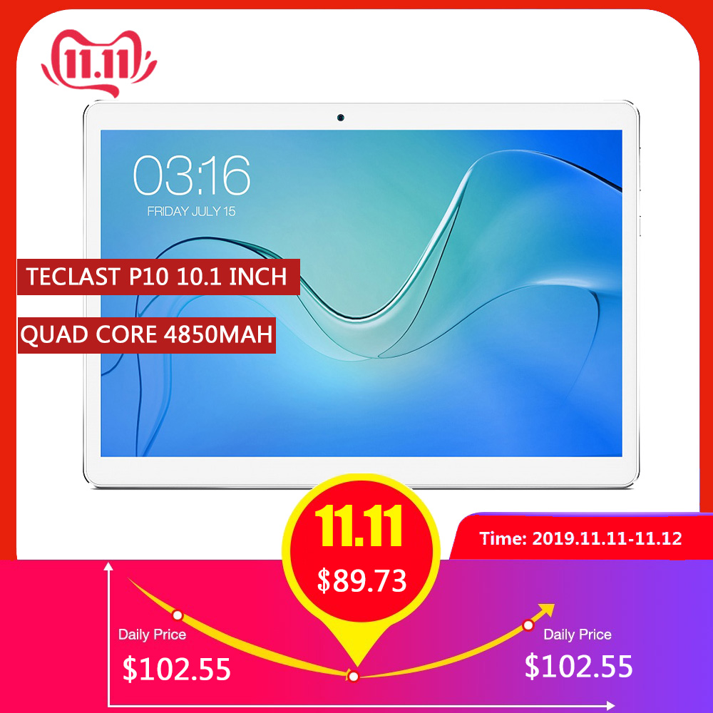 Teclast P10 4G Phablet 10.1 Inch Android 8.1 MTK 6737 Quad Core 2GB RAM 16GB EMMC 2.0MP Rear Camera Dual Band 4850mAh Tablet PC
