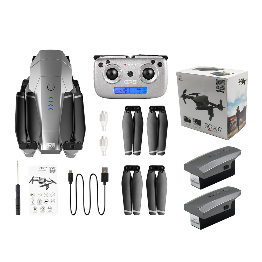 SG907 <font><b>GPS</b></font> <font><b>Drone</b></font> with 4K/<font><b>1080P</b></font> HD Camera 5G Anti-shake FPV RC Helicopter Gesture Photo Professional <font><b>Drone</b></font> RC Toy Machine image