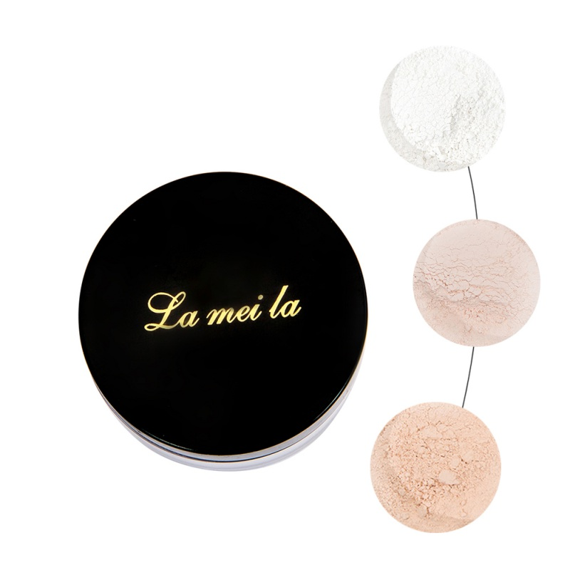 Long Lasting Loose Powder Waterproof Matte Setting Powder With Puff Concealer Light Powder Mineral Makeup 1# image
