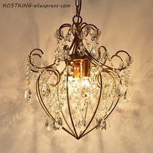 Luz led lustre para sala de estar quarto sala de jantar lustre de cristal clássico luzes de cristal ouro retro lustres de iluminação cama
