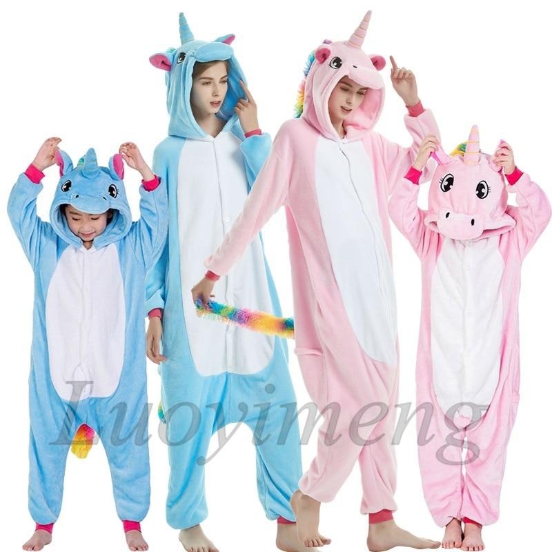 New Animal Unicorn Pajamas Adults Winter Sleepwear Kigurumi Wolf Panda Unicornio Pyjamas Women Onesie Anime Costumes Jumpsuit 2
