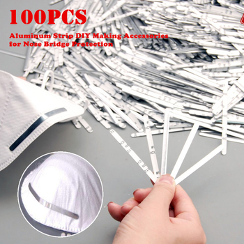 100Pcs 85mm Aluminum Strip DIY Making Accessories mouth mask For Nose Protection Bacteria Proof Flu Face Masks Dropshipping 2020