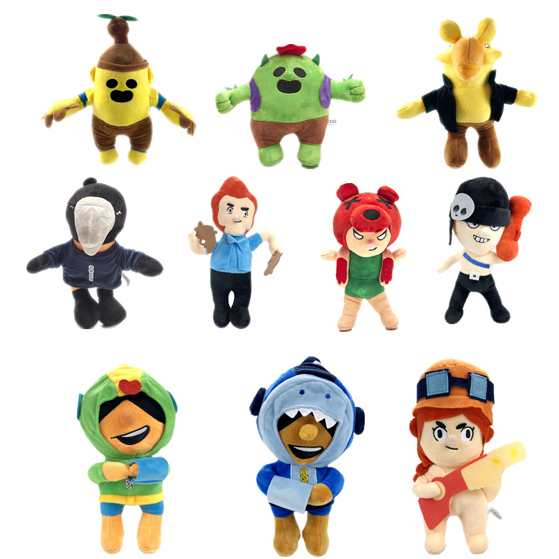 New 21cm—30cm 7ps Brawl Stars Short Plush Movable Anime Character Plush Doll Children's Boutique Birthday Gift