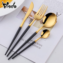 16/24Pcs Luxury White Flatware Set Gold Cutlery Se
