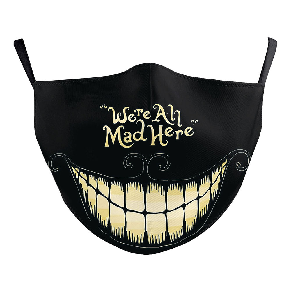 Alice In Wonderland Face Mask We're All Mad Here Cosplay Adult Dustproof Masks