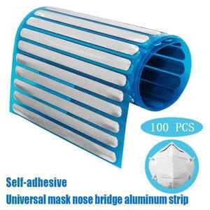 Mask 90MM Nose Bridge Dedicated Aluminum Strip Flat Free Wire Making Accessory Craft Double Sided Tape DIYHandmade Making Mask