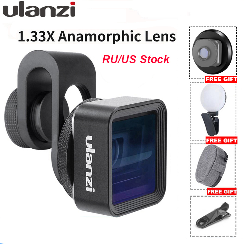 Ulanzi Anamorphic Lens For Mobile Phone 1.33X Wide Screen Video Widescreen Slr Movie Videomaker Filmmaker Universal Phone Lens