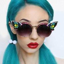 Vintage Diamond Sunglasses Women Luxury Brand Cat Eye