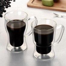 Creative coffee latte mocha tea cup Drinking holder mug Double wall mugs Beer wine Glasses Whiskey champagne glass Vodka cups