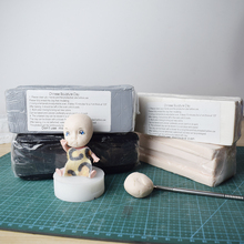 470g Professional High Quality Oven bake Polymer Clay Figure Modeling Sculpture BJD Dolls face body Mud Black White Gray Skin pink