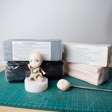 купить 470g Professional High Quality Oven bake Polymer Clay Figure Modeling Sculpture BJD Dolls face body Clay Mud Black White Gray Skin pink дешево