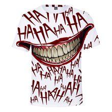 2021 venda quente t camisa para homens verão 3d impresso branco palhaço terror t-shirts engraçado casual o-pescoço masculino