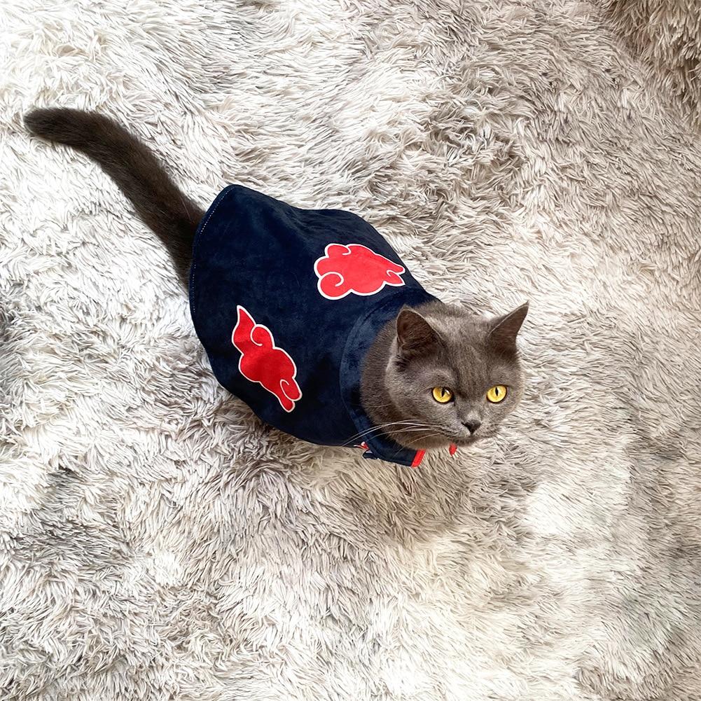 Japan Cartoon Creative Naruto Akatsuki Nagato Yahiko Uchiha Itachi Cat Dog Cape Cos Ninja Dress Up