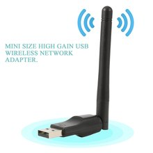 Mini USB Wifi Adapter 150Mbps 20dBm Antenna PC USB Wi-fi Receiver Wireless Network Card 802.11b/n/g High Speed USB LAN Card все цены