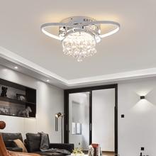 New modern LED living room ceiling lights for bedroom study room restaurant Gold/Chrome Plated AC90-260V Ceiling lamp Fixtures