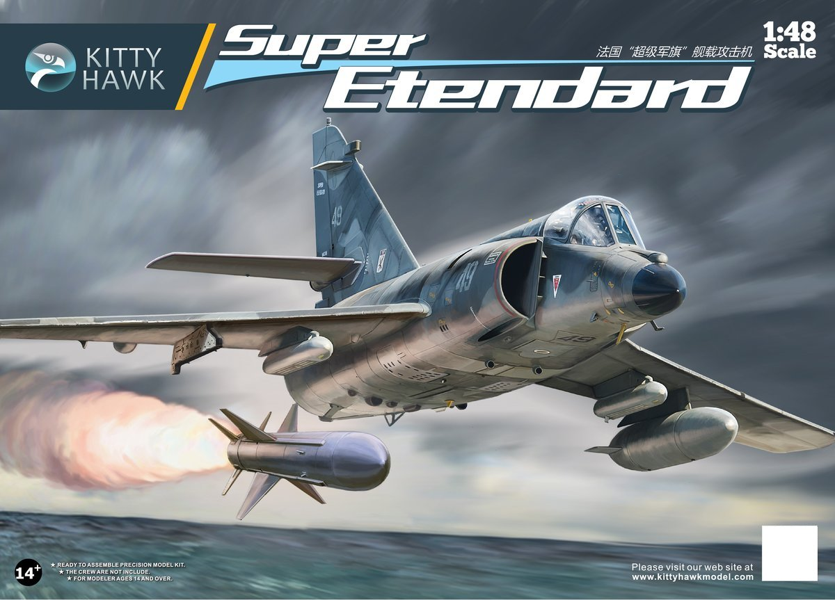 KittyHawk KH80138 1/48 Francia Super Etendard Carrier Borne Attack Avión de juguete de plástico conjunto de construcción modelo Kit Funda para cinturón, extensor de pene, colgador de pene, Juguetes sexuales, tamaño Master, bomba de vacío para hombres, mejora