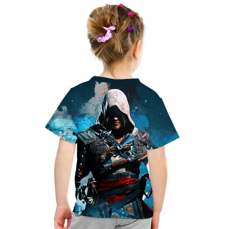 Summer 2019 New Gothic Assassin Creed 3d T Shirtprinted Kids