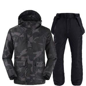 Image 1 - Camouflage ski jacken und hosen frauen ski anzug snowboard kits sehr warme winddicht wasserdichte winter im freien kleidung