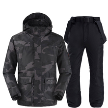Camouflage ski jackets and pants women ski suit snowboarding kits very warm windproof waterproof winter outdoor clothing