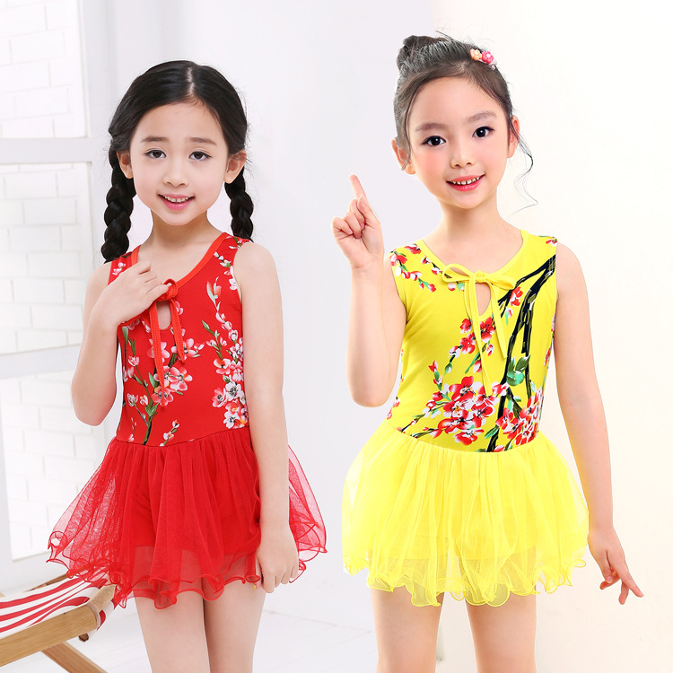 2019 New Style KID'S Swimwear Small CHILDREN'S Dress-Mesh Dress Exquisite Princess Lace GIRL'S Swimsuit Manufacturers Wholesale