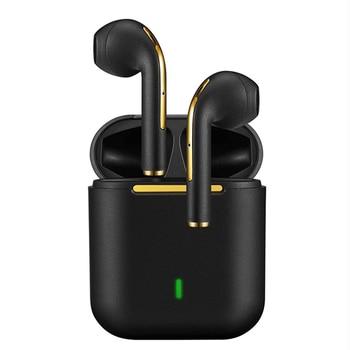 New J18 TWS Bluetooth Headphones Stereo True Wireless Headphone Earbuds In Ear Handsfree Earphones Ear Buds For Mobile Phone