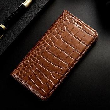 Crocodile Genuine Leather Case Flip Cover For XiaoMi Redmi K20 K30 Pro S2 GO Redmi Note 2 3 4 4X 5 6 7 8 8T 9 9s Pro Phone Cases