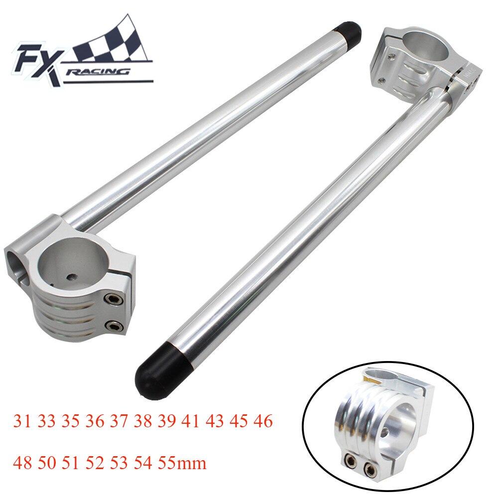 CNC Motorcycle Clip On Ones Clipon 31 33 35 36 37 38 39 41 43 45 46 48 50 51 52 53 54 55mm Handlebar Fork Clamp Handle Bar