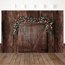 цена на Christmas Wooden Board Backgrounds for Photo Studio Newborn Baby Kids Photography Backdrops Children Birthday Backdrop