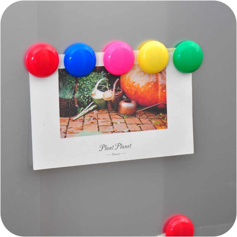 10 imanes de nevera unids/lote, imanes creativos coloridos para frigorífico, oficina, para calendarios, pizarras blancas, decoración del hogar, accesorios de cocina