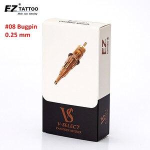 Image 1 - EZ V Select Tattoo Cartridge Tattoo Needles #08 0.25mm Bugpin Round Liner Micro Permanent Makup Tattoo accessaries 20 pcs/Box