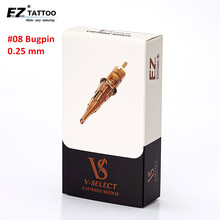 EZ V seçim dövme kartuş dövme İğneler #08 0.25mm #06 0.18mm yuvarlak astar mikro kalıcı makyaj dövme accessories20 adet/kutu