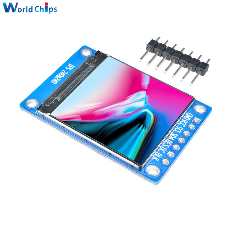 1.3 polegada ips hd tft st7789 unidade ic 240*240 spi comunicação 3.3 v tensão 4 fios spi interface cor cheia lcd display oled diy Módulos LCD    - AliExpress