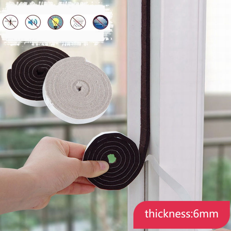 EVA Seal Strip Self Adhesive Doors And For Windows Soundproofing Collision Avoidance Dusting Sealing Tape Windows Accessories